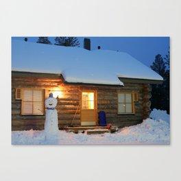 Lapland - Log Cabin Canvas Print