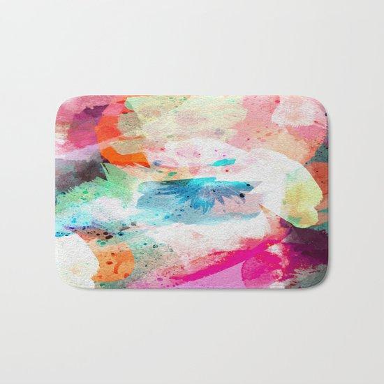 Abstract Color Paint Bath Mat