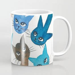 Chantilly Whimsical Cats Coffee Mug