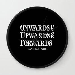 Onwards&Upwards&Forwards. Wall Clock