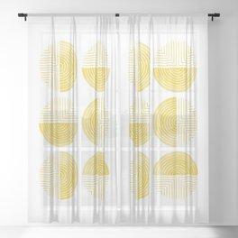 Labyrinth - Honey Sheer Curtain