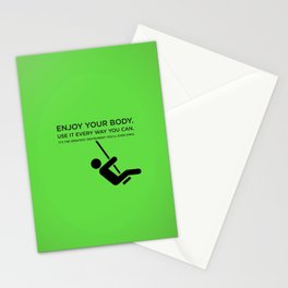 Sunscreen / Enjoy your body Stationery Cards