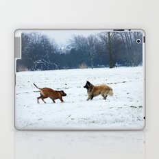 Lets play - Dogs in the snow Laptop & iPad Skin
