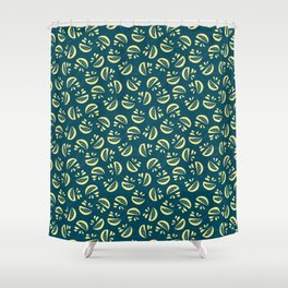 Abstract Lemonade Shower Curtain