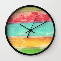Colors of Summer Wall Clock
