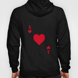 Ace of Hearts I 21 Casino Blackjack I Card Poker graphic Hoody