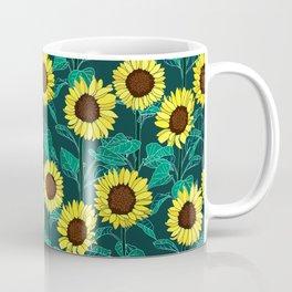 Sunny Sunflowers - Emerald Coffee Mug