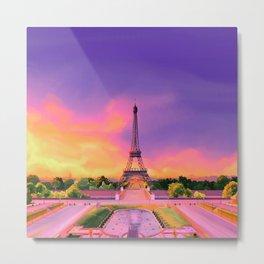 Parisian Sunrise Metal Print