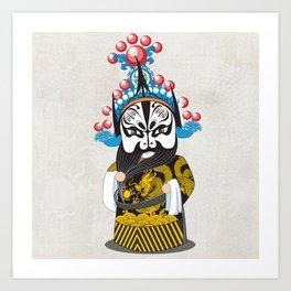 Beijing Opera Character ZhangFei Art Print