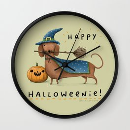 Happy Halloweenie! Wall Clock