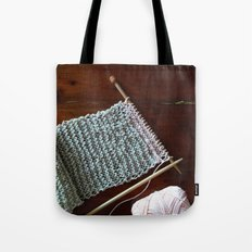 knitting, knitting photos, oatmeal color, peach, natural color, scarf, cotton Tote Bag