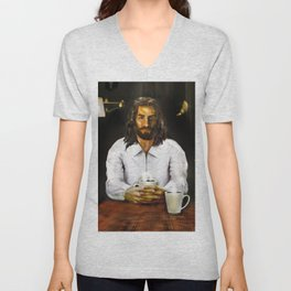 Coffee With Jesus Unisex V-Neck