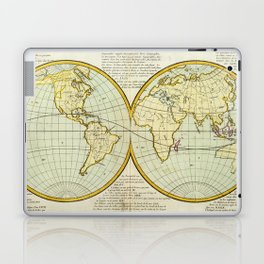 Vintage Map of The World (1787) Laptop & iPad Skin