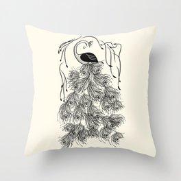 Jungle Peacock Throw Pillow