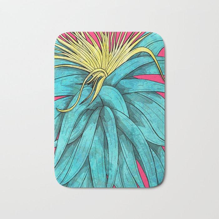 Tropical Plant Bath Mat
