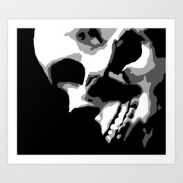 Skull Over Darkness Art Print