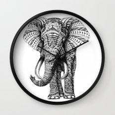 Ornate Elephant Wall Clock