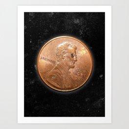 Coin Night Art Print