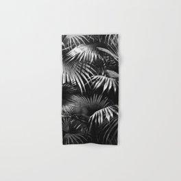 Tropical Botanic Jungle Garden Palm Leaf Black White Hand & Bath Towel