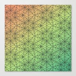 Decorative Spider Web Canvas Print