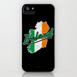 Ireland Map Distressed iPhone Case