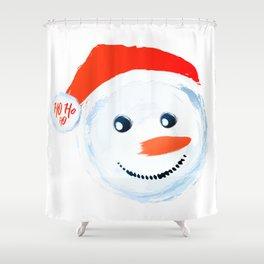 Snowman Ho Ho Ho Shower Curtain