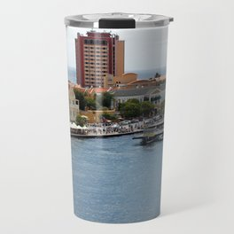Busy Willemstad from Above Travel Mug