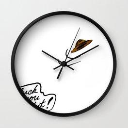 Hats away Wall Clock
