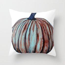 Spooky Halloween Pumpkin Throw Pillow
