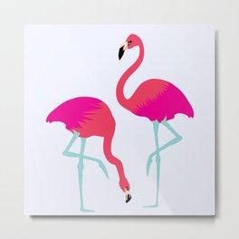 Flamingo(s) Metal Print