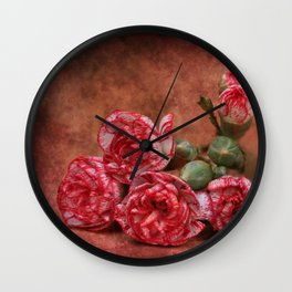 Carnation flowers Wall Clock