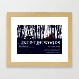 Into the Woods Poster Framed Art Print
