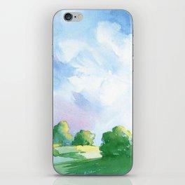 Landscape watercolor iPhone Skin