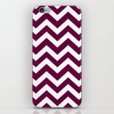 Tyrian purple - violet color -  Zigzag Chevron Pattern by makeitcolorful