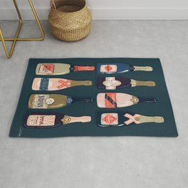 French Champagne Collection – Teal Rug