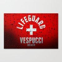 grand theft auto Canvas Prints featuring Los Santos Vespucci Beach Lifeguard Grand Theft Auto by KeenaKorn