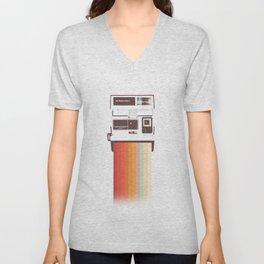Instant Camera Rainbow Unisex V-Neck