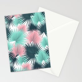 Pastel Palm Leaves Stationery Cards
