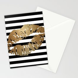 Gold Lips 2 Stationery Cards