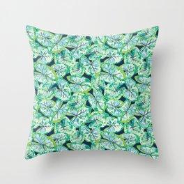 Caladium Throw Pillow