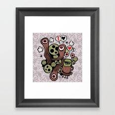 COSMIC LOVE ZONE Framed Art Print