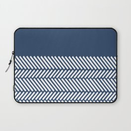Herringbone Boarder Navy Laptop Sleeve
