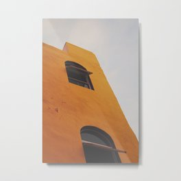 Orange window Metal Print