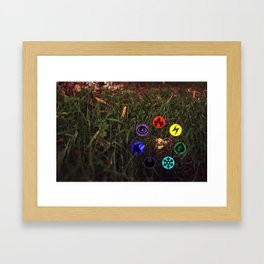 So many flavors to choose from Framed Art Print