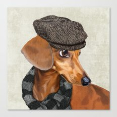 Elegant Mr. Dachshund Canvas Print