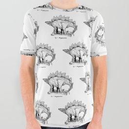 Figure One: Stegosaurus All Over Graphic Tee