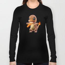 Realistic Charmandar Long Sleeve T-shirt