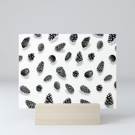 PINE CONE TANNENZAPFEN BLACK AND WHITE BY SUBGRL Mini Art Print