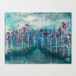 Red Flower Marsh Canvas Print