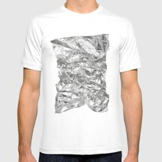 Silver Mens Fitted Tee MEDIUM White